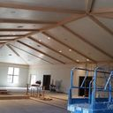 Beams in the hall!  It is looking amazing!